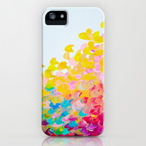 CREATION IN COLOR iPhone 6 7 8 Plus X Xr Xs Max Case Samsung Galaxy Cover Colorful Ocean Waves Rainbow Splash Summer Art Abstract Painting