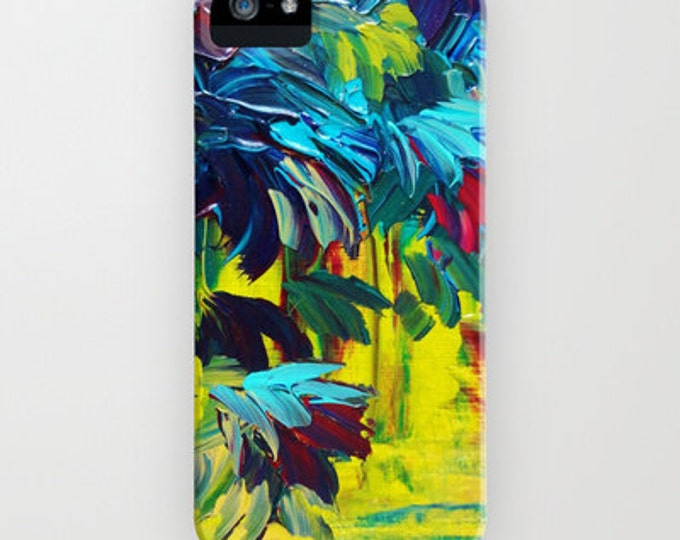 FLORA Abstract Colorful Floral iPhone 7 8 Plus X Xr Xs 11 12 Pro Max Case Samsung Galaxy S9 S10 S20 S21 Samsung Note Flowers Art Yellow Aqua