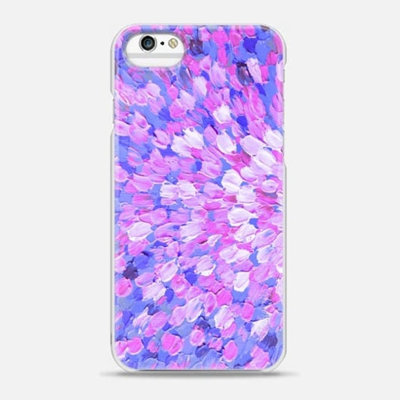SPRING SPLASH Pink Lavender Blue, Colorful Ocean Waves iPhone 6 7 8 Plus X Xr Xs Max Case Samsung Galaxy S7 S8 S9 Girly Abstract Painting