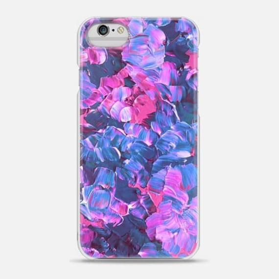 FLORAL FANTASY, Pink Blue Purple Flowers, 6 7 8 Plus X Xr Xs Max Case Samsung Galaxy S7 S8 S9 Phone Cover Painting Pretty Pattern Fine Art
