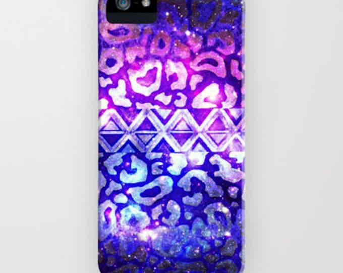TRIBAL LEOPARD Galaxy iPhone 12 Pro Max X Xs 11 Case Samsung Galaxy S10 S20 S21 Ombre Space Nebula Stars Galactic Native Aztec Animal Print