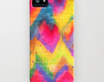 BOLD QUOTATION Neons 2 Colorful Rainbow iPhone 13 Pro Max Case iPhone 12 Pro Case iPhone 11 Samsung Galaxy S10 S20 S21 Abstract Chevron Ikat