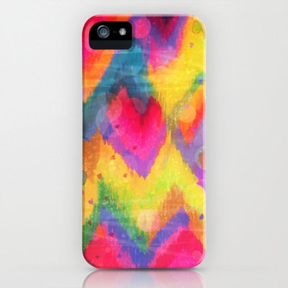 BOLD QUOTATION in Neons 2 Art iPhone 6 7 8 Plus X Xr Xs Max Case Samsung Galaxy Plastic Phone Cover Colorful Abstract Painting Chevron Ikat