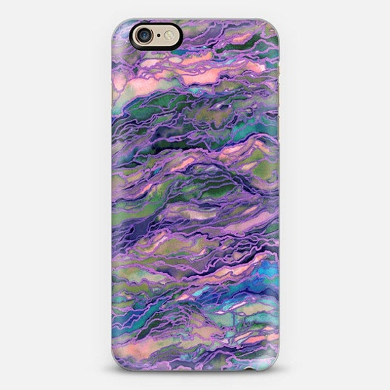 MARBLE IDEA Lavender Pink, Girly Purple iPhone 5 SE 6 7 8 X Xr Xs Max Case Samsung Galaxy Agate Geode Swirls Abstract Watercolor Pattern
