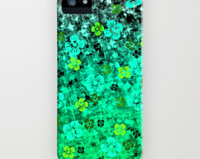 LUCK of THE IRISH iPhone 12 Pro Max Case iPhone 11 8 X Xr Samsung Galaxy S10 S20 S21 St Patricks Day Emerald Lime Green Ombre Flowers Floral