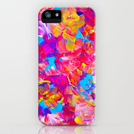 FLORAL FANTASY iPhone 5 SE 6 6s 7 8 X Xr Xs Max Case Samsung Galaxy Neon Hot Pink Abstract Floral Summer Flower Pattern Gift Her Cell Cover