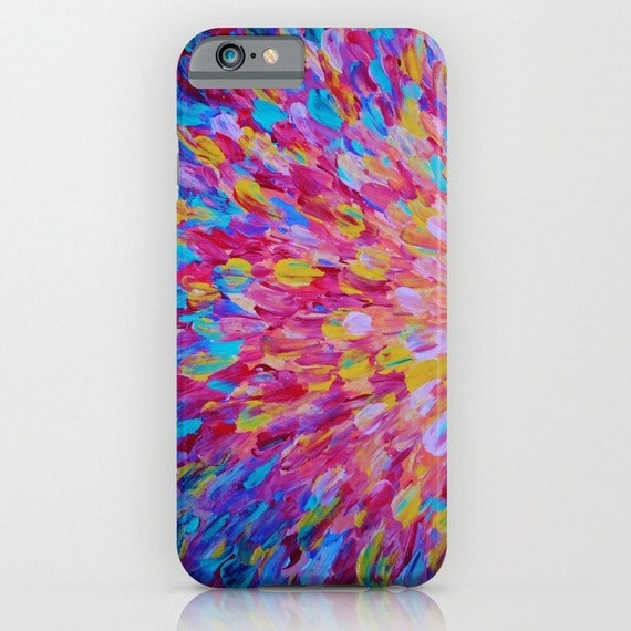 SPLASH, Revisited Girly iPhone 5 6 6s 7 8 Plus X Xs Xr Case Samsung Galaxy Feminine Ocean Beach Waves Magenta Pink Turquoise Blue Crimson