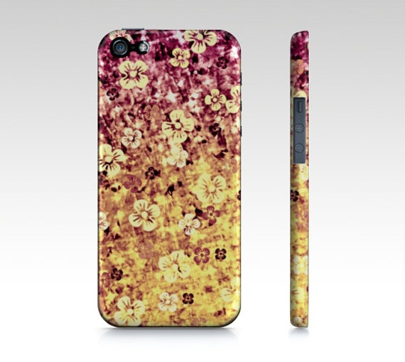 FLOWER POWER iPhone 5 SE 6 7 8 X Xr Xs Max Case Samsung Galaxy Case Cover Purple Plum Periwinkle Yellow Ombre Abstract Art Flowers Floral
