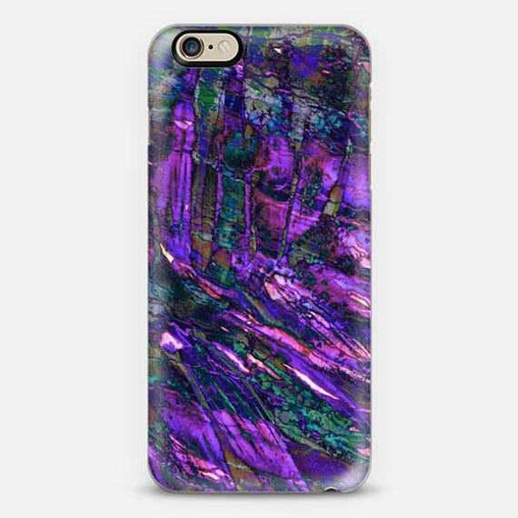 ENTRANCED 3 Violet Purple iPhone 5 SE 6 7 8 X Xr Xs Max Case Samsung Galaxy Case Abstract Ocean Waves Mermaid Teal Royal Blue Turquoise Plum