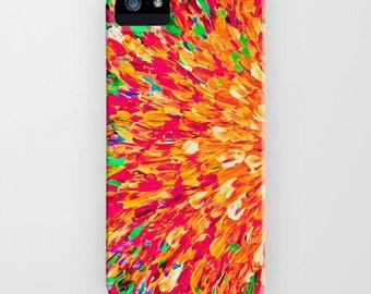 NEON SPLASH Ocean Ombre Art iPhone 8 X Xr Xs 11 Pro Max Case Samsung Galaxy S10 S20 S21 Beach Waves Samsung Note Bold Orange Red Lime Green