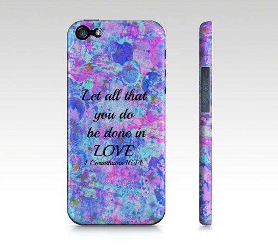 All That You Do iPhone 6 7 8 Plus X Xr Xs Max Case Bible Proverbs Corinthians Christian Love Pink Blue Abstract Scripture Biblical Verse