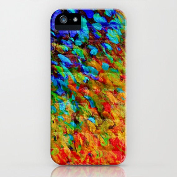 COLLISION COURSE Fine Art Abstract iPhone 5 SE 6 6s 7 8 X Case Samsung Galaxy Hard Plastic Cover Colorful Splash Urban Bold Rainbow Painting