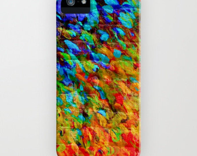COLLISION COURSE Colorful Splash Art Abstract iPhone X 11 12 Pro Case Samsung Galaxy S10 S20 S21 Samsung Note Cover Urban Rainbow Painting