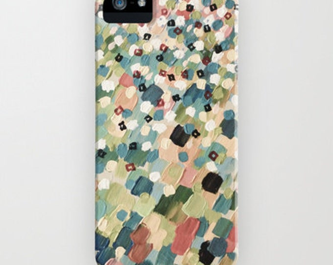 SWEPT AWAY 4 Pastel Dots Pink Green Grey iPhone 11 12 Pro Max Case iPhone X Xr Xs Samsung Galaxy Ocean Waves Splash Girly Abstract Painting