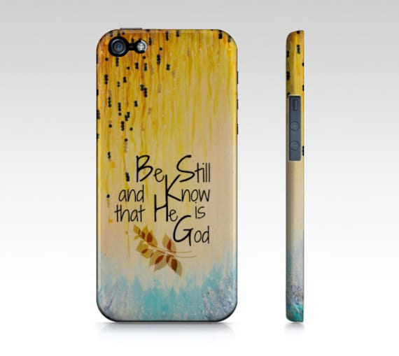 BE STILL & Know God Christian Jesus Scripture iPhone 5 Se 6 7 8 X Xr Xs Case Samsung Galaxy Garden Floral Psalm Faith Belief Religious Bible
