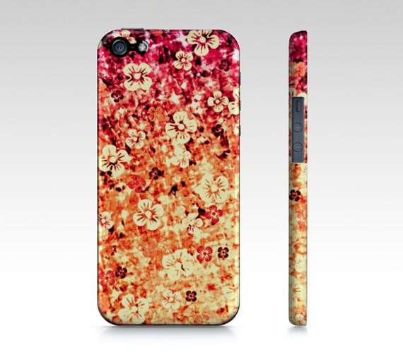 FLOWER POWER in ORANGE iPhone Se 6 7 8 X Xr Xs Max Case Samsung Galaxy Case Cover Magenta Tangerine Ombre Abstract Art Girly Flowers Floral