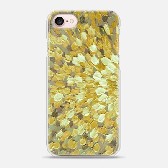 SPRING SPLASH Golden Yellow Gray, Colorful Ocean Waves iPhone 5 SE 6 7 8 X Xr Xs Max Case Samsung Galaxy S7 S8 S9 Plus Abstract Art Painting