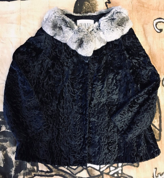 Faux Fur/Fur Collar Coat - image 1