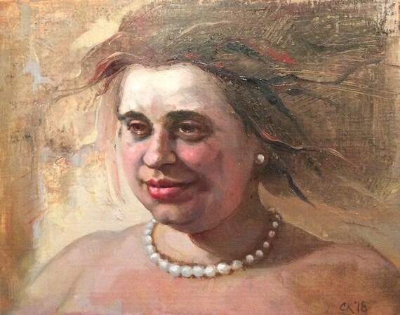 Oil painting sketch