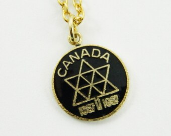 Canadian Centennial Necklace in Black