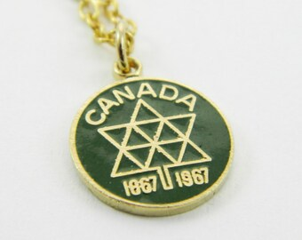 Canadian Centennial Necklace in Green