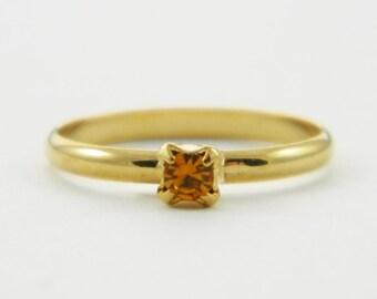Children's Adjustable Birthstone Ring - Topaz Ring