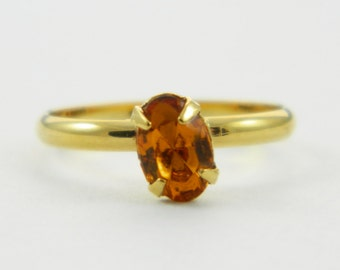 Children's Adjustable Birthstone Ring - Topaz Oval Ring