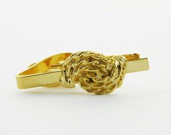 Gold Rope Tie Clip