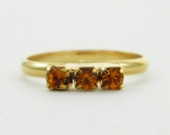Children's Adjustable Birthstone Ring - Topaz Three Stone Ring