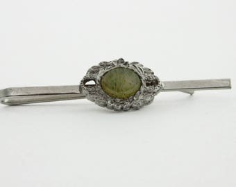 Pale Green Jasper Tie Bar - TT308