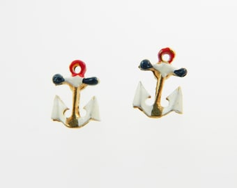 Petite Vintage Anchor Earrings