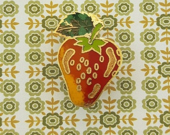 Enamel Strawberry Pin