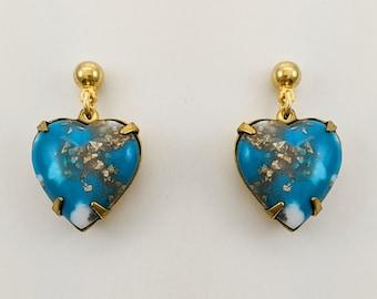 Ocean Matrix Heart Earrings