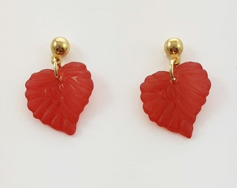 Red Leaf Earrings