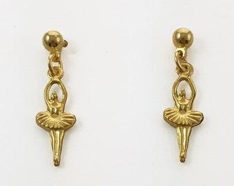 Brass Ballerina Earrings