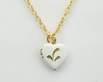 Tiny Vintage Heart Locket
