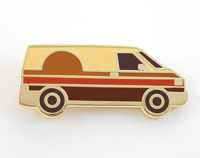 Featured listing image: Enamel 70s Sunset Van Pin