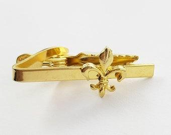 Gold Fleur-de-lis Tie Clip