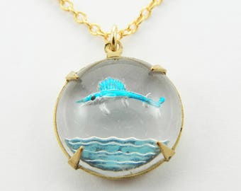 Vintage Swordfish Necklace