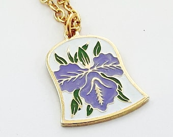 Purple Hawaiian Hibiscus Necklace