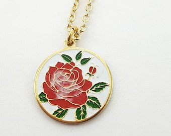 Vintage Rose Garden Necklace