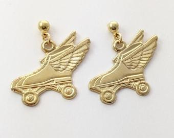 Vintage Roller Skate Earrings