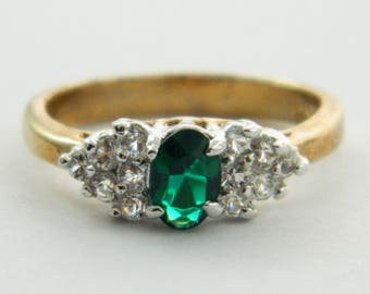 Vintage Faux Emerald Ring