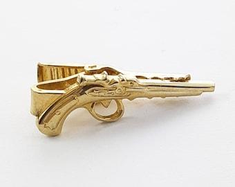 Antique Revolver Tie Clip