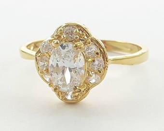 14K Gold Filled Nouveau Cocktail Ring