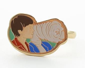Vintage E.T. the Extra Terrestrial Ring - ET & Elliot