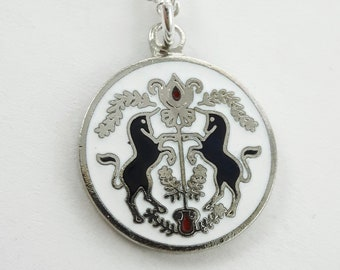 Peace & Contentment Charm Necklace in Silver - Unicorn Charm Neckace
