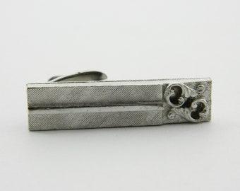Vintage Silver Scroll Tie Clip