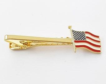 American Flag Tie Clip