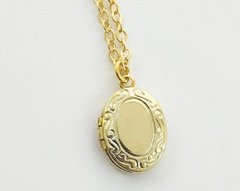 Tiny Vintage Locket Necklace